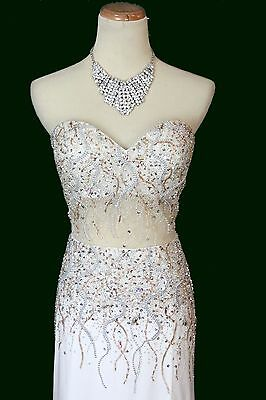 One-Shoulder Bridal Prom Formal Gown 2 New Terani JP604 Authentic Yellow Beaded