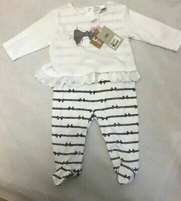 I Do Spanish  Girls 6m  Romper Bnwt Faux Top And Trousers Stripe Floral Designer