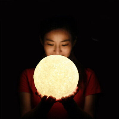 3D Moon Lamp USB LED Night Lunar Light Moonlight Touch Color Changing Xmas Gifts