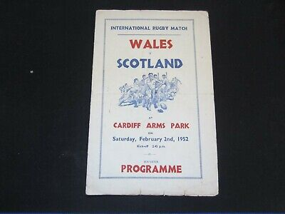 1952 INTERNATIONAL RUGBY WALES v SCOTLAND ( PIRATE VICTOR, LONDON )