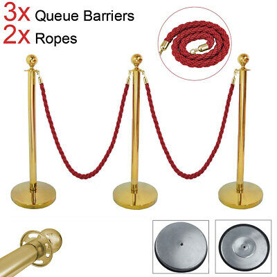 Greet Guests Hotel Ropes Belt Gold Stainless Steel Guard Queue Barriers Usher