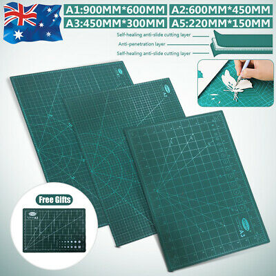 A1 A2 A3 Cutting Mat Self Healing Cut Pad Craft Grid Printed Board Double Sided