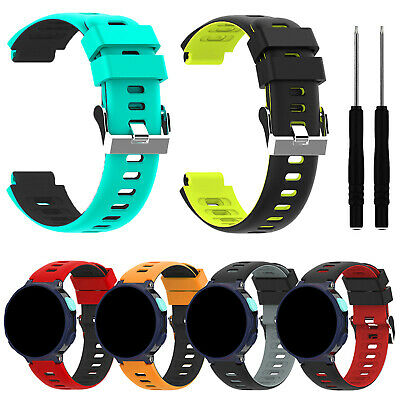Silicone Watch Strap Replacement for Garmin Forerunner 235/220/230/620/630/735xt
