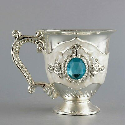 Collectable Handwork China Old Cloisonne Carve Flower Delicate Noble Wine Cup