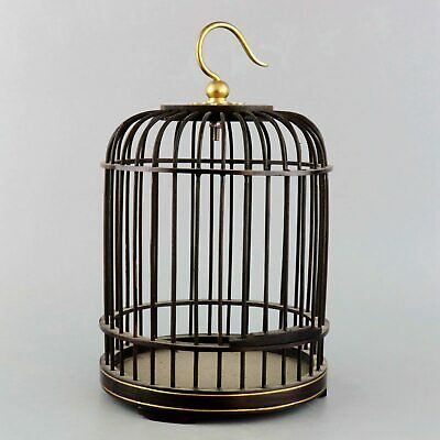 Collectable Handwork China Old Ebony Carved Delicate Unique Decorate Birdcage