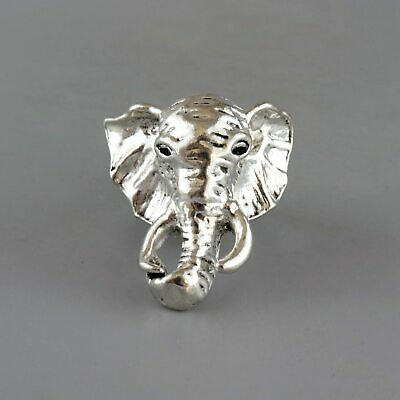 Collect China Old Miao Silver Hand-Carved Lovely Elephant Delicate Unique Ring