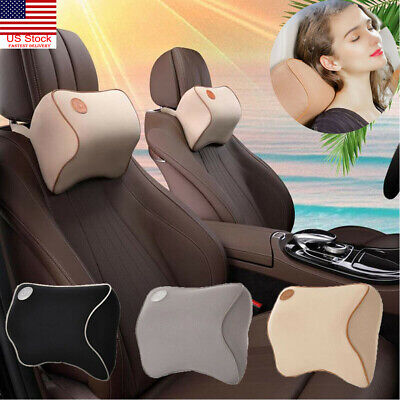 Car Seat Headrest Head Pillow Pad Memory Foam Travel Neck Rest Support Cushion