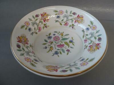 Minton Haddon Hall Large Round Pedestal Fruit / Serving Bowl With Gold Trim