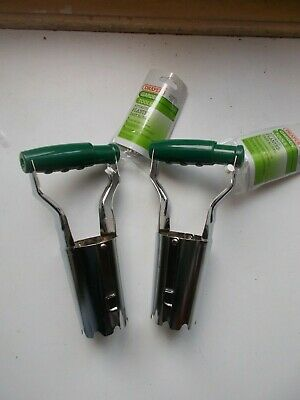 Draper Garden Bulb Planters : Pack of 2 : Silver Metal with Green Handle 21861