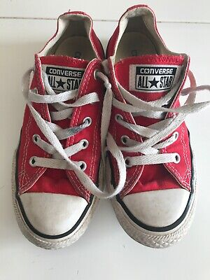 Converse All Star Red Plimsolls Size 13 Kids Canvas Red Pumps
