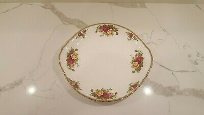 Royal Albert Old Country Roses Handled Gold Trim Cake Plate Platter