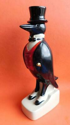 Old Crow Vintage Ceramic Figural Pottery Decanter American Whisky Bottle c1950s