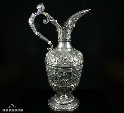 Cellini Ewer Silver Plated Reanaissance Claret Jug James Dixon & Sons
