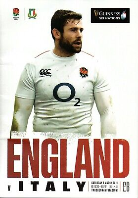 Guinness Six Nations Rugby England V Italy Programme 09Th Mar '19 Twickenham B