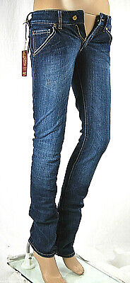 Jeans Donna Pantaloni MET Made in Italy Vita Bassa Slim Fit Blu C474 Tg 24
