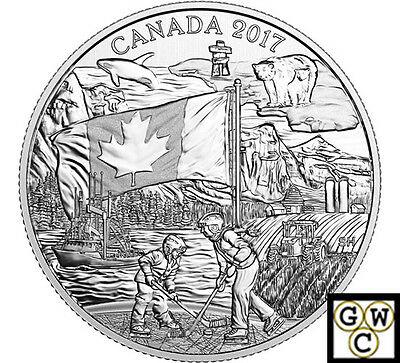 2017 'The Spirit of Canada' Proof $3 Silver Coin 1/4oz .9999 Fine (NT) (17869)