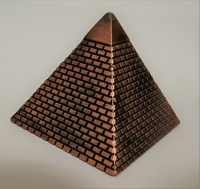 Bronze Pyramid Pencil Sharpener ancient Egyptian style.