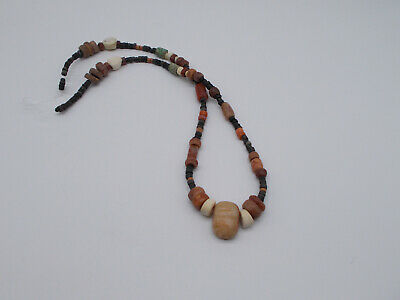 "Pre-Columbian  Tairona  Carnelian Agate Necklace  20""   Fertility Idol Pendant"
