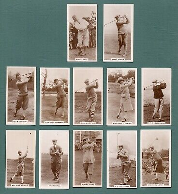 1928 Millhoff Famous Golfers De Reszke Cigarettes 10/27 Bobby Jones Harry Vardon