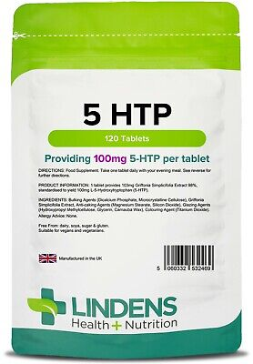 5 HTP 100mg 120 Tablets Lindens Health + Nutrition (2469)