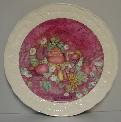 "Gien (France) LES DELICES 12-1/2"" Cake Plate     More Items Available"