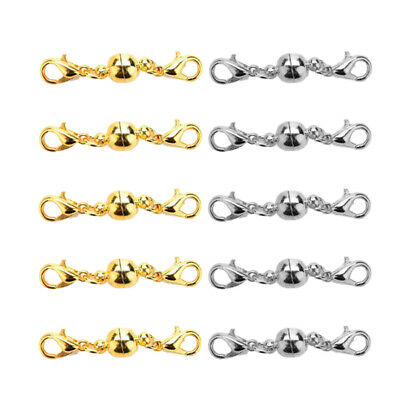 10pcs Magnetic Clasps Golden Silver Shiny Lobster Clasps Plated Bracelet Clasps