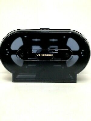 VONDREHLE Black TWIN JUMBO ROLL TISSUE DISPENSER