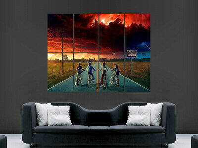 Stranger Things Poster Tv Series Wall Art Picture Print Giant