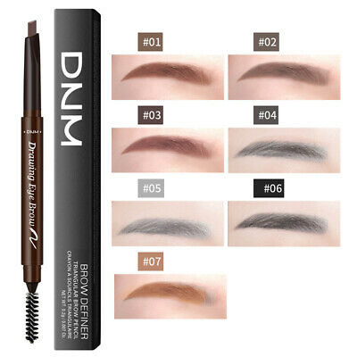 7 Colors Double-Headed Eyebrow Pencil Tattoo Pen Long Lasting with Eyebrow Brush