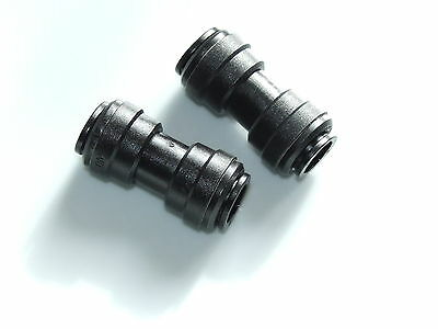 12mm Push Fit Straight x 2, Quality caravan camping water fittings.