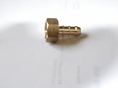 "3/8"" BSP female Fulham nozzle to 8mm rubber hose."
