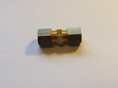 8mm Brass straight compression fitting, LPG Gas.