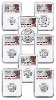 8 Coin 2019S US Limited Edition Silver NGC GEM PF UC ER Trolley SKU59510