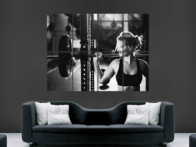 Sexy Girl Weightlifting Poster Gym Fitness Wall Art Huge Large Giant