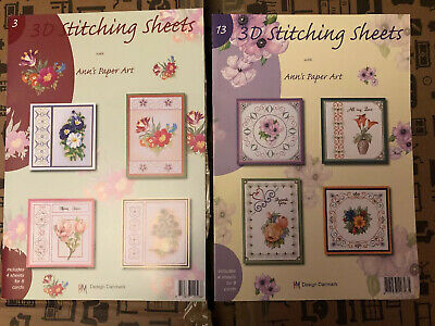 Ann/'s Paper Art No.4 3D Embroidery Stitching Decoupage Sheets Paperback Booklet