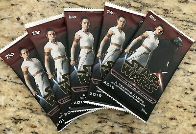 Lot Of 5 Sealed Unopened 2019 Topps Journey To Star Wars:the Rise Of Skywalker