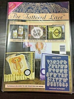 TATTERED LACE Tutorial Magazine & Free Die Kit  - Issue 3 NIP