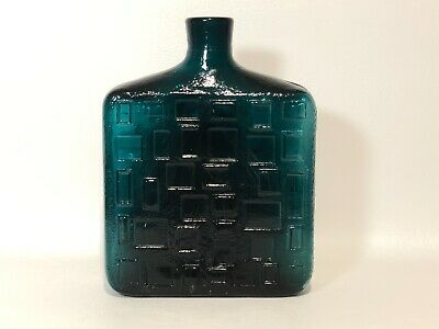 Alte  Glas Flasche /  Vase  made in italy