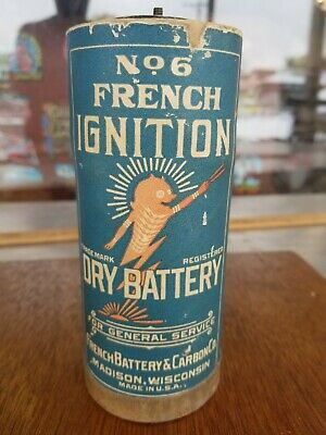 Original Antique no 6 French Ignition Dry Cell Battery Telephone Radio Lantern