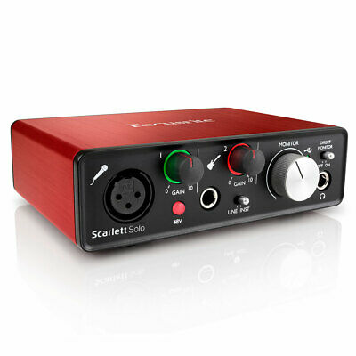 Focusrite Scarlett Solo  Audio Recording Interface 2nd Gen Protools Compact USB