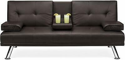 Phenomenal Abbyson Jackson Dark Brown Leather Foldable Futon Sofa Bed Caraccident5 Cool Chair Designs And Ideas Caraccident5Info