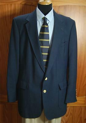 Arnold Palmer Sharp Navy W/Two Gold Bttn Poly Blazer Sport Coat Suit Jacket 44L