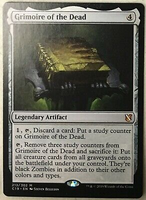 1x GRIMOIRE OF THE DEAD NM Magic the Gathering MTG Commander//Innistrad