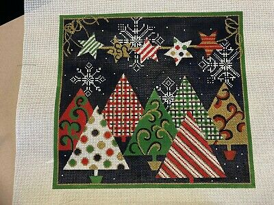 needlepoint canvas   CHRISTMAS TREE VILLAGE