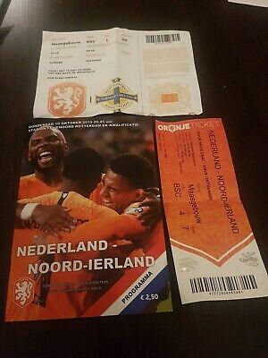 Official programme and 2 Tickets ECQ Holland v Northern Ireland