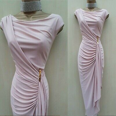 Size 10 Uk Phase Eight Baby Pink Grecian Style Long Maxi Ballgown Dress
