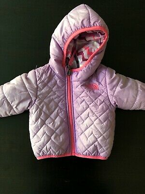 The North Face Kids Infant Girls Reversible Perrito Jacket 3-6mos Purple