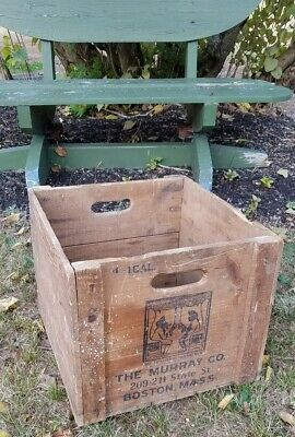 RARE Vintage Wooden Crate Box Advertising BOSTON MASS The Murray Company Wine