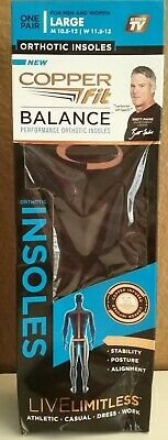 Copper Fit Balance Copper Infused Orthotic Insole - Large Damaged Pack