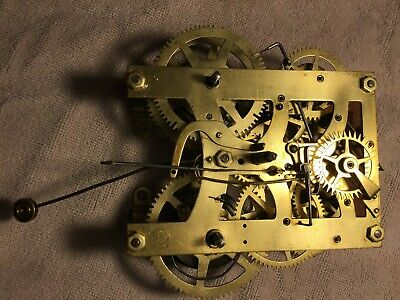 Antique New Haven Kitchen Clock Movement Very Clean Running Condition Parts